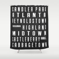 atlanta Shower Curtains featuring Atlanta City Subway Sign by Edit Voros
