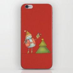 Friends keep warm - red iPhone & iPod Skin