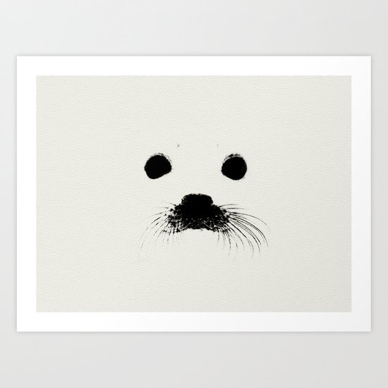 Seal your face in leather Art Print