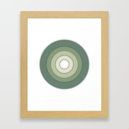 Circle Shadows Green Framed Art Print
