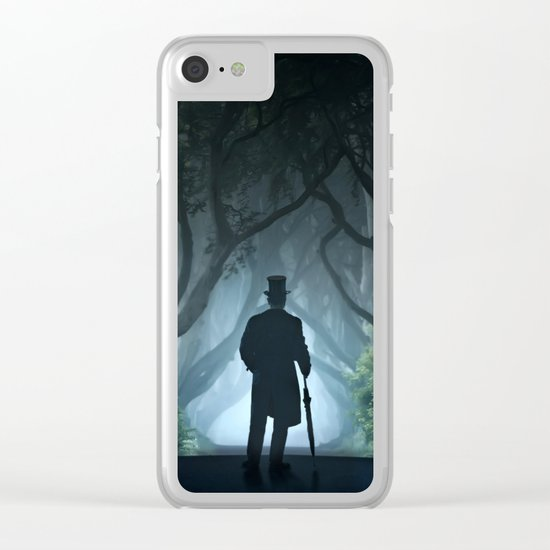 Morning visit in cold Dark Hedges Clear iPhone Case