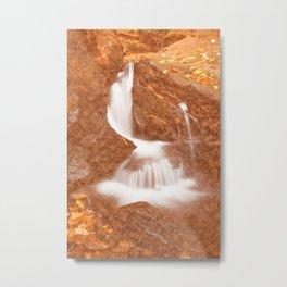 Vintage Velvet Waterfall Metal Print