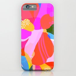 Abstract Florals I iPhone Case