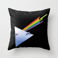 dark side of the moon Throw Pillows featuring Dark Side by Diego Consalter