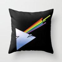 dark side Throw Pillows featuring Dark Side by Diego Consalter