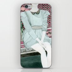 Sitting Girl iPhone & iPod Skin