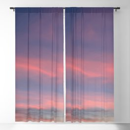 Pink sky in evening Blackout Curtain