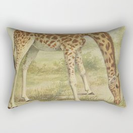 Vintage Giraffe Illustration (1903) Rectangular Pillow