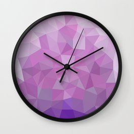 Ultraviolet Low Poly Wall Clock