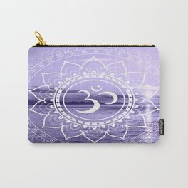 Water Om Mandala Lavender Carry-All Pouch
