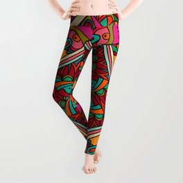 African Ornaments No1 Leggings