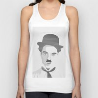 chaplin Tank Tops featuring Chaplin by Beitebe