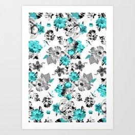 Hula Floral Art Print