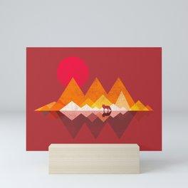 Roaming Lands - Wolf in mountains / animal t shirt, animal print t shirt, wildlife t shirt, Mini Art Print