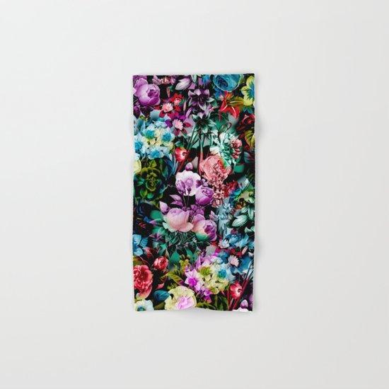 Multicolor Floral Pattern Hand & Bath Towel