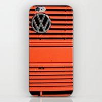 volkswagen iPhone & iPod Skins featuring Red Volkswagen by Marieken