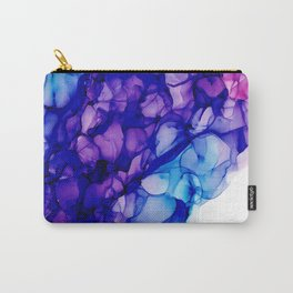 Purple Force of Nature: Original Abstract Alcohol Ink Painting Carry-All Pouch