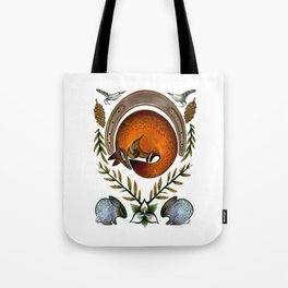 The Fox Lay Dying Tote Bag