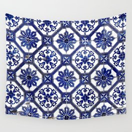 Blue and White Portuguese Tile - Wall Tapestry