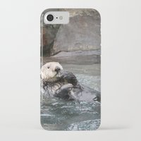 otter iPhone & iPod Cases featuring Otter by RMK Photography