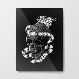Brain absorb Metal Print