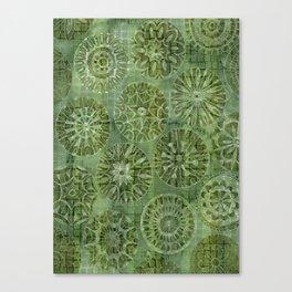 Mosaic Flowers Canvas Print