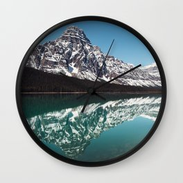 Reflection in the Rockies Wall Clock