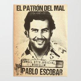 Pablo Escobar mugshot Poster