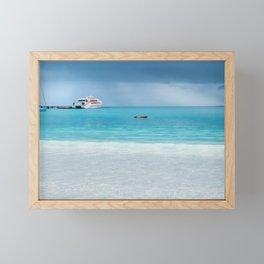 Beautiful light at the horizon on a rainy day at Kuto Bay Framed Mini Art Print