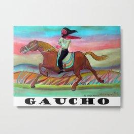 Gaucho jinete  6 por Diego Manuel Metal Print