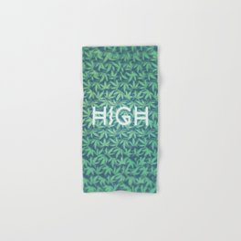 HIGH TYPO! Cannabis / Hemp / 420 / Marijuana  - Pattern Hand & Bath Towel