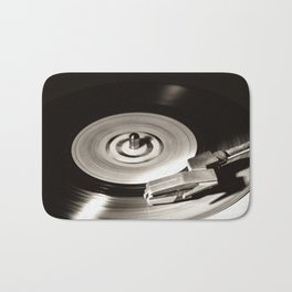Music From a Vintage 45 RPM Record Playing on a Turntable 5 Bath Mat