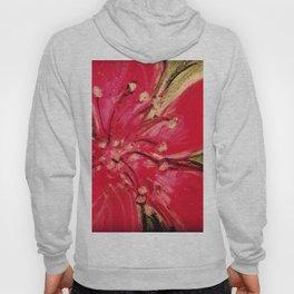 Red Hibiscus Detail Hoody