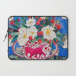 Horse Urn with Tiny Apples and Matilija Queen of California Poppies Floral Still Life Laptop Sleeve