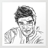 liam payne Art Prints featuring Liam Payne by Hollie B