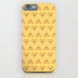 Love Hearts in Spring Time - Summer Golden Yellow iPhone Case