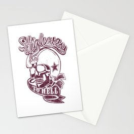 Highway to hell skull Stationery Cards
