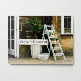 KEEP CALM Display Metal Print