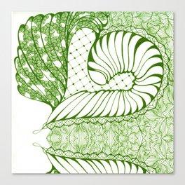 Limette Art Deco Doodle Design Canvas Print