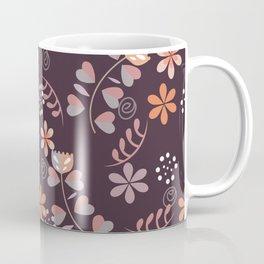 Nordic Foral Pattern Coffee Mug