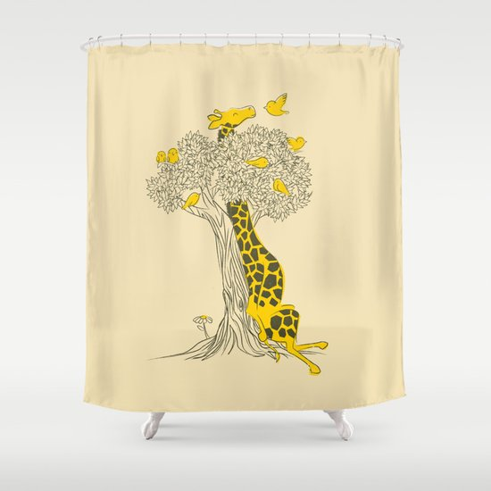 Friends in High Places Shower Curtain