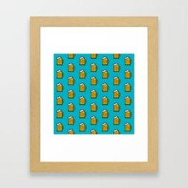 Beer Pattern - Icon Prints: Drinks Series Framed Art Print