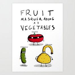Fruit Masquerading as Vegetables Art Print