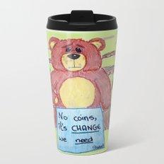 Sad bear & friend Travel Mug