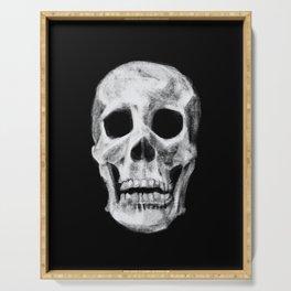 Skull on Black Serving Tray