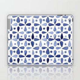 Imperfect Geometry Blue Petal Grid Laptop & iPad Skin