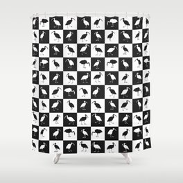 ibises (checkerboard) Shower Curtain