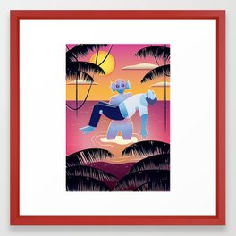 Creature from the Pink Lagoon Framed Art Print