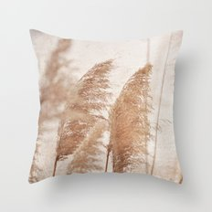 Wind in the Meadow Throw Pillow