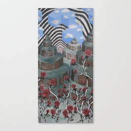 Flowers, Towers, Stripes & Cubes Canvas Print